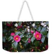 Hot Pink Camellias Glowing In The Shade Weekender Tote Bag