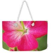 Hot Pink Geranium On A Brilliant Summer Day Weekender Tote Bag