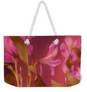 Hot Pink Lilies Weekender Tote Bag