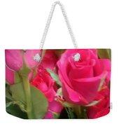 Hot Pink Rose Weekender Tote Bag