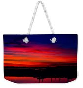 Hot Pink Sunset Weekender Tote Bag