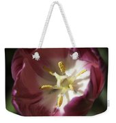 Hot Pink Tulip Center Squared Weekender Tote Bag