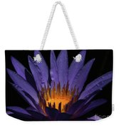 Hot Purple Water Lily Weekender Tote Bag