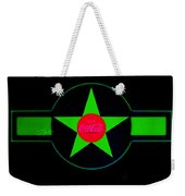 Hot Red On Cool Green Weekender Tote Bag