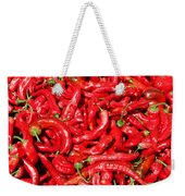 Hot Red Peppers In The Summer Sun Weekender Tote Bag