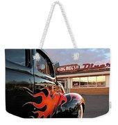 Hot Rod At The Diner At Sunset Weekender Tote Bag