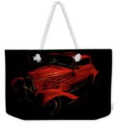 Hot Rod Red Weekender Tote Bag