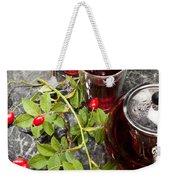 Hot Rosehip Tea In Glass Weekender Tote Bag