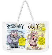 Hot Summer Global Warming Weekender Tote Bag