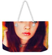 Hot Youth Beauty Rebellion Alexis Burleson Signed Weekender Tote Bag