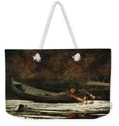 Hound And Hunter Weekender Tote Bag by Winslow Homer