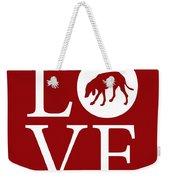 Hound Dog Love Red Weekender Tote Bag
