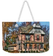 House - I Want That Big Pink House Weekender Tote Bag by Mike Savad