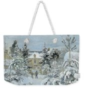 House At Montfoucault Weekender Tote Bag by Camille Pissarro
