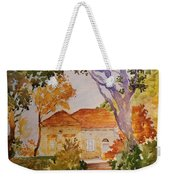 House Beside Mountain Weekender Tote Bag