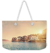 House By A Lake At Sunset Weekender Tote Bag