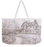 House By Lake Weekender Tote Bag