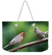 House Finch Courtship Weekender Tote Bag