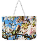 House Finch In The Cherry Blossoms Weekender Tote Bag
