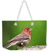 House Finch Perched Weekender Tote Bag