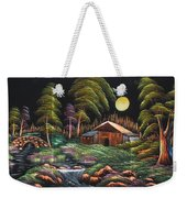 House In Night At Beautiful Site Weekender Tote Bag