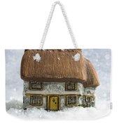 House In Snow Weekender Tote Bag