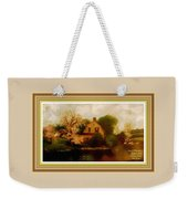 House Near The River. L A With Decorative Ornate Printed Frame. Weekender Tote Bag
