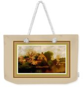 House Near The River. L B With Decorative Ornate Printed Frame. Weekender Tote Bag