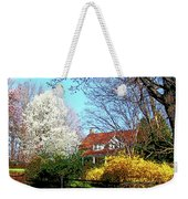 House On The Hill In Spring Weekender Tote Bag