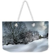 House On The Hill Winters In Vermont Weekender Tote Bag