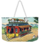 House On Wheels, 1900s French Postcard Weekender Tote Bag