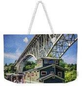 Houseboat And Aurora Bridge Seattle Weekender Tote Bag