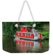 Houseboat On The Mississippi River Weekender Tote Bag