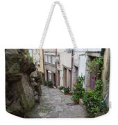 Houses Along Alley In The Old Town Of Porto Weekender Tote Bag