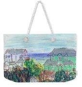 Houses At Whalehead Beach Weekender Tote Bag
