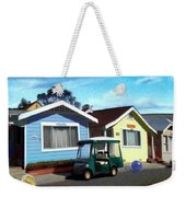 Houses In A Row Weekender Tote Bag by Snake Jagger