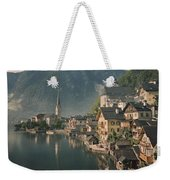 Houses Line The Lake Of Hallstatt Weekender Tote Bag