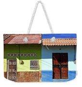 Houses On Street In Leon, Nicaragua Weekender Tote Bag
