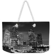 Houston By Night In Black And White Weekender Tote Bag