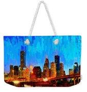 Houston Skyline 102 - Pa Weekender Tote Bag