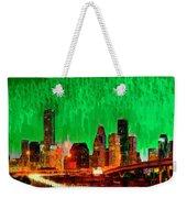 Houston Skyline 112 - Pa Weekender Tote Bag