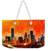 Houston Skyline 116 - Pa Weekender Tote Bag