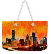 Houston Skyline 119 - Pa Weekender Tote Bag