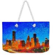 Houston Skyline 130 - Pa Weekender Tote Bag
