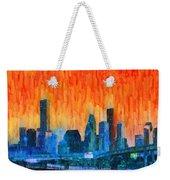 Houston Skyline 81 - Pa Weekender Tote Bag