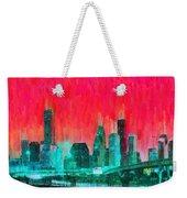 Houston Skyline 91 - Pa Weekender Tote Bag