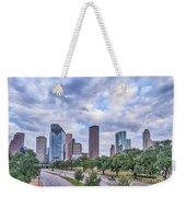 Houston Skyline View Weekender Tote Bag