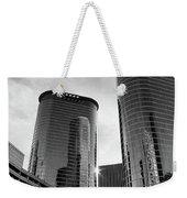 Houston Skyscrapers Black And White Weekender Tote Bag