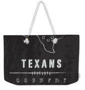 Houston Texans Art - Nfl Football Wall Print Weekender Tote Bag