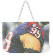 Houston Texans Jj Watt 3 Weekender Tote Bag